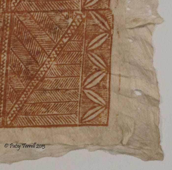Bark cloth from Samoa